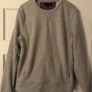 BANANA REPUBLIC grey Sherpa lined sweatshirt